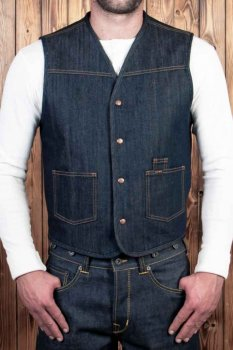 Pike Brother 1966 Rodeo Vest 13oz indigo