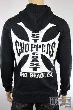 Sweat-shirt a capuche West Coast Choppers original cross