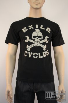 T-shirt Exile Cycles The menace black