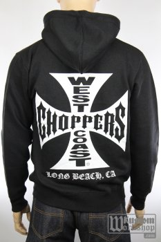 Sweat-shirt zippé West Coast Choppers original cross