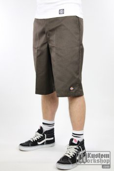 Short Dickies 13''Multi pocket work short brun foncé