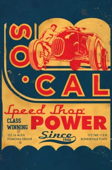 Tin sign So-Cal Coupe