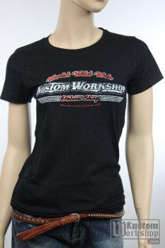 T-shirt Kustom Workshop Surf Shop femme