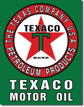 Tin sign Texaco Motor Oil