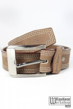 Ceinture en cuir brun Jesse James Workwear