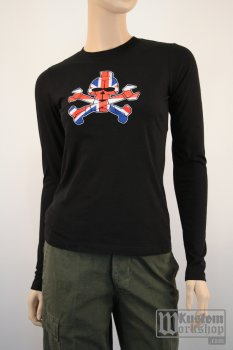 T-shirt manches longues Exile Cycles British flag