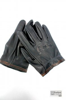 Gants Grifter The Interceptor cuir noir (inscription grifter manquantes)