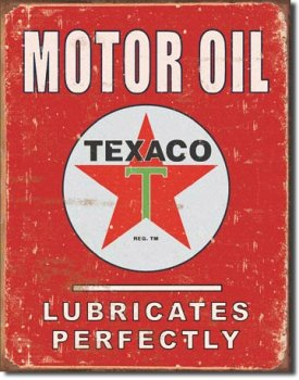 Tin sign Texaco Lubrificates