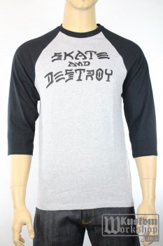 T-shirt Baseball Thrasher Skate & Destroy