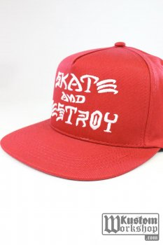 Casquette Thrasher Skate & Destroy red