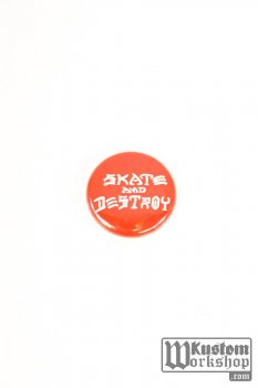 Badge Thrasher Magazine Skate&Destroy