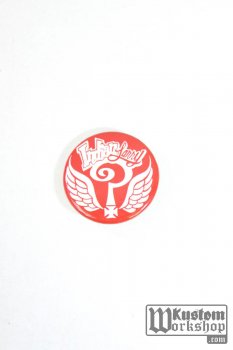 Badge Indian Larry Question Cross rouge