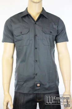 Chemise Dickies workshirt grise slim fit