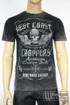 T-shirt  West Coast Choppers Ride Hard