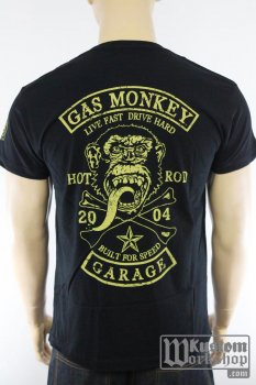 T-shirt Gas Monkey Garage Patch noir