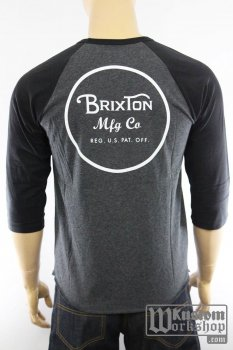 T-shirt Brixton 3/4 Wheeler charcoal