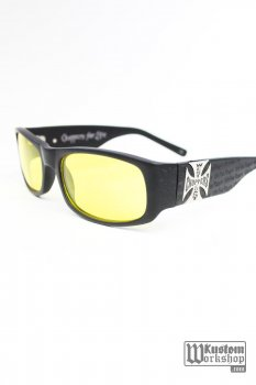 Lunettes West Coast Choppers Gangscript jaunes