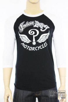 Baseball tee Indian Larry original logo