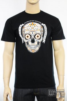 T-shirt Kustom Workshop Mexican Skull homme