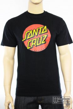 T-shirt Santa Cruz Dot noir