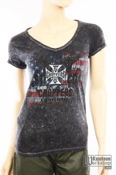 T-shirt West Coast Choppers femme Patriot