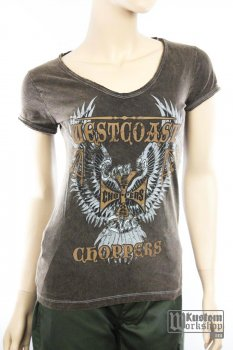 T-shirt West Coast Choppers femme Born to Ride