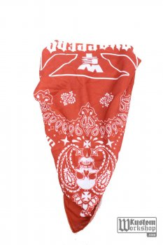 Bandana West Coast Choppers Handcrafted red