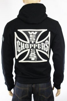 Hoodie West Coast Choppers Cross Panel