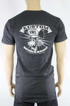 T-shirt Kustom Workshop Mad Skull homme long