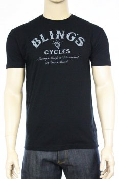 T-shirt Bling's Cycles logo
