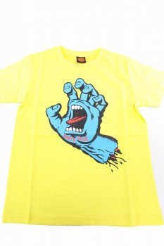 T-shirt Santa Cruz Youth Screaming Hand jaune