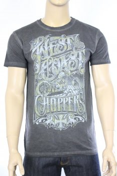 T-shirt West Coast Choppers Lock Up gris