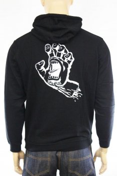 Hoodie Santa Cruz Screaming full black