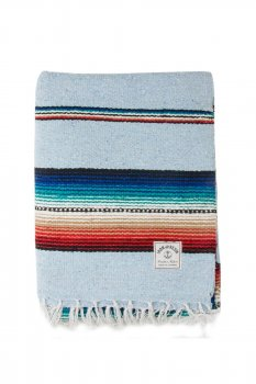 Serape Iron and Resin bright blue