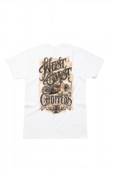 T-shirt West Coast Choppers Lock Up blanc