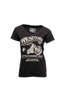T-shirt noir West Coast Choppers Conquer & Divide Femme