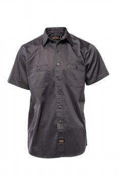 Chemise manches courtes Jesse James Workwear carbon grey