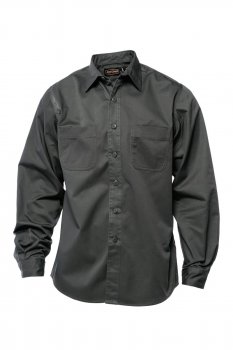 Chemise manches longues Jesse James Workwear carbon grey
